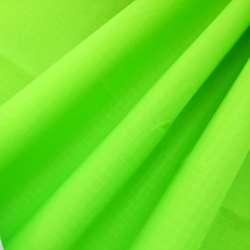 emmakites-fluorescent-green-169oz-ripstop-nylon-fabric-60w-of-good-airtightness-uv-resistnce-soft-pu