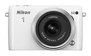 Nikon 1 S2 Systemkamera (14 Megapixel, 7,5 cm (3 Zoll) LCD-Display, Wi-Fi-fähig, USB, HDMI, Full-HD-Videofunktion) Kit inkl. 1 Nikkor 11-27,5mm Objektiv weiß