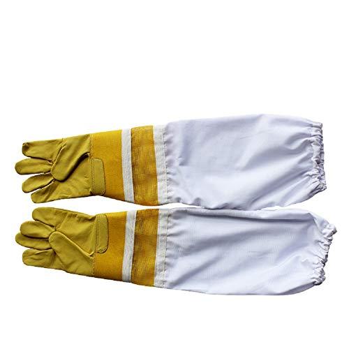 QETY Lederschutzhandschuhe, Garten- Und Arbeitshandschuhe Mehrzweck-Bauhandschuhe,M