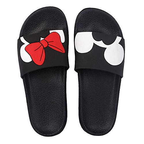 DES TONGS Women's Mickey Mini Flip Flop Black and White 5