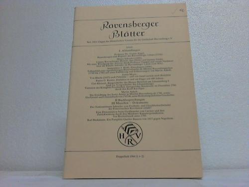 Ravensberger Blätter. Doppelheft 1984 (1 + 2)