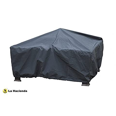La Hacienda 60548 Square Firepit Cover - Grey