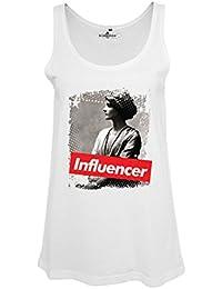 KiarenzaFD Camiseta Mujer Influencer Coco Fashion Chanel Star Legend Larga para Hombre, KCAD00005-L