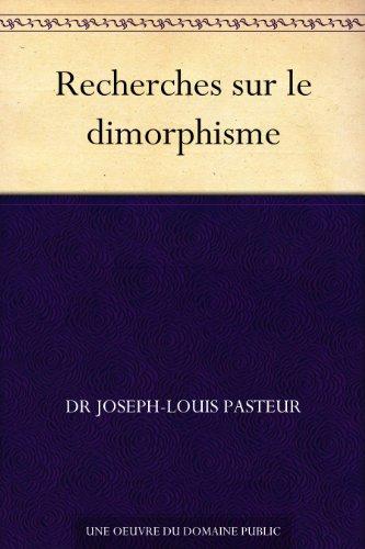 Couverture du livre Recherches sur le dimorphisme