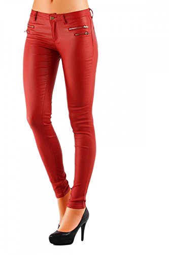 8169fa3db49e Damen Jeans Hose Hüfthose Lederimitat Kunstlederhose Skinny (No 323),  Grösse 38. 2313. 2313. 2313
