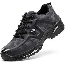 H-Mastery Zapatillas de Seguridad para Hombre Mujer Zapatos Trabajo con Punta de Acero
