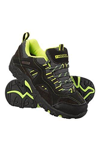 Mountain Warehouse Stampede Wanderschuhe für Kinder - Laufschuhe, wasserfeste Trekkingschuhe, Schuhe für Kinder aus Wildleder und Netzstoff - Für Jungen und Mädchen Limette 28 EU (Billige Schuhe Für Jungen-größe 4)