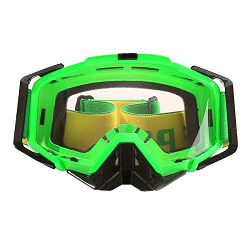 Fahrradbrille Polarisierend Brille Motorrad Cross Country Reiten Brille Outdoor Brille Gesetzt Green White Damen Herren
