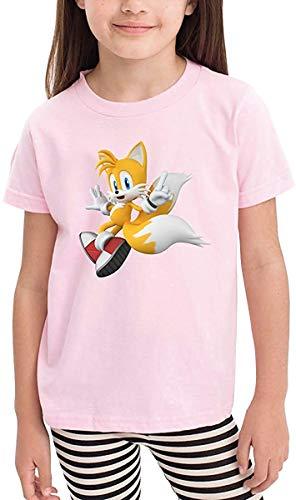 HGdggvd Kinder Sonic Hedgehog Tails Klassische Kinder Jungen Mädchen T-Shirt
