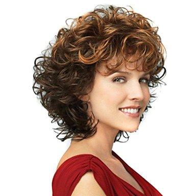 HJL-12 pouces femmes ondes courtes synth¨¦tiques perruque de cheveux bruns ombre , brown
