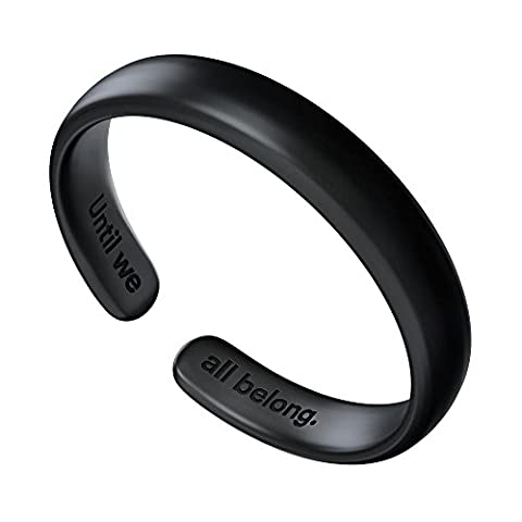 Zolimx Finger Ring ,The Acceptance Ring the letter