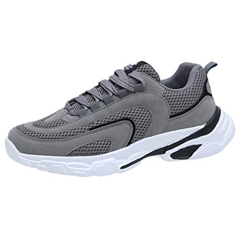 Lilicat Scarpe Running Estive Uomo Sneakers da Ginnastica Corsa Sportive Antinfortunistica in Acciaio Super Leggere Scarpe da Corsa Traspiranti Scarpe da Viaggio Scarpe Casual(Grau,40 EU)