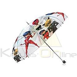 """Disney Ladybug paraguas transparente automático, lb17041, 19"""""""
