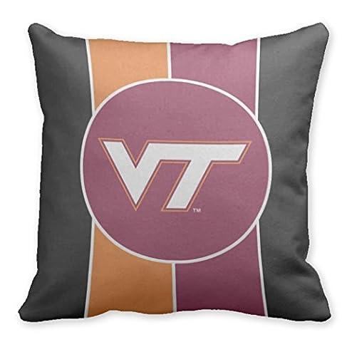 Just Redo VT Virginia Tech Throw Pillow Case Covers Decorative Pillows Covers For Sofa