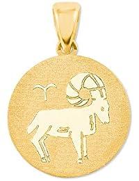 amor Sternzeichen Widder Münzen-Anhänger Gold 375