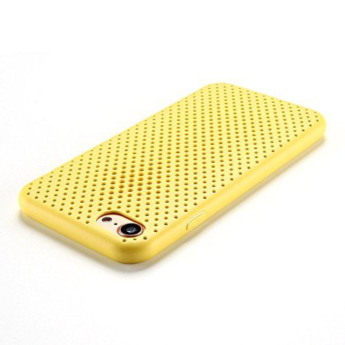 Cover iPhone 7 Custodia iPhone 7 Silicone Anfire Morbido Flessibile Gel TPU Case Cover per Apple iPhone 7 (4.7 Pollici) Ultra Sottile Leggera Opaco Antiurto Protettivo Bumper Shell La Ventilazione La  Golden
