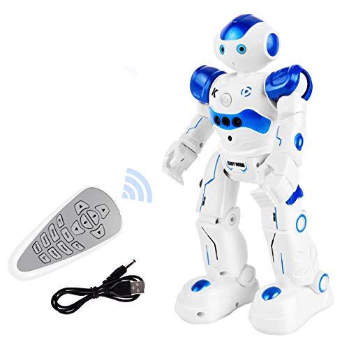 ROOYA BABY Robot RC para Niños Robot de Control Remoto Girar Cantar, Juguetes educativos Inteligentes para 7 8 años de Edad Regalos para niños