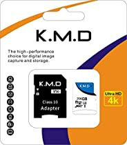 K.M.D microSDXC Memory Card + SD Adapter with A1 App Performance up to 100MB/s, Class 10, U3 4K