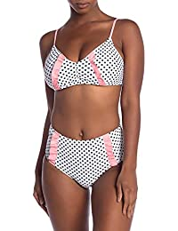 8ccc39cb68a7 Juicy Couture Two Piece Swimsuit Bikini Set Adjustable Top and High Waisted  Bottom with Ruffle Detail