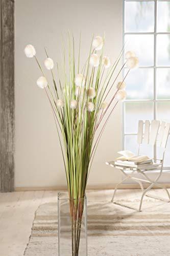 4er Set Dekobündel'Blütenkugel' 105 cm hoch, Kunstpflanze, Ziergras