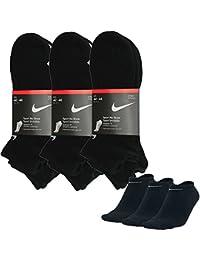 Nike No Show seaker Calcetines Low Pack de 3colores diferentes. negro Talla:EUR 42-46