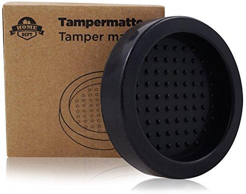 HOME DEPT Tampermatte, Tamperstation, Tamperablage Zum Espresso und Kaffee zubereiten mit Tamper und...
