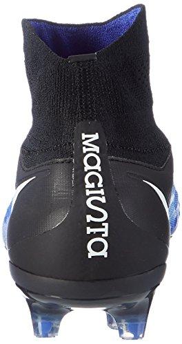 Nike Herren Fußballschuhe Magista Orden II (FG) Firm-Ground Football Boot Schwarz/Blau BLACK/WHITE-HYPER ORANGE-VOLT