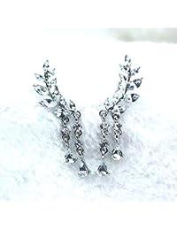 Satyam Kraft Silver Golden American Diamond Ring Bracelet For Women