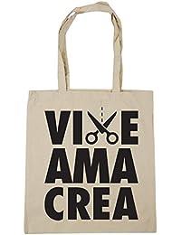 8cdc12ede HippoWarehouse Vive Ama Crea (Live Love Craft) Bolso de Playa Bolsa Compra  Con Asas