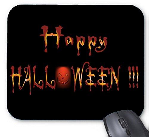 (Glückliches Halloween mit Kürbis-Mausunterlage)