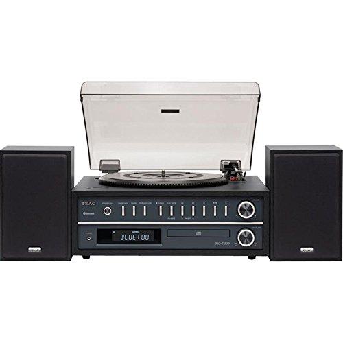 Und Plattenspieler Cd-player (Teac MC-D800-B Plattenspieler/CD-System (Bluetooth, CD-Player, USB, UKW/MW Tuner, 2-Wege Lautsprecher) Schwarz)
