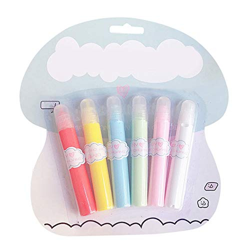 pink888 6 Stück Tagebuch Notizbuch Aufkleber Maker flüssiger Stift Malstift für DIY Basteln Zeichnen Dekorationsbedarf multi (Tagebuch Maker)
