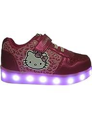 Baskets LED Hello Kiity pour filles - semelle lumineuse clignotante