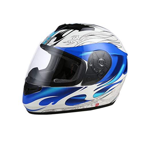 CASQUE FAFY De Moto Unisexe Unisexe Anti-poussière/Anti-UV/Résistant Au Vent Anti-poussière Anti-poussière De, Blue-L