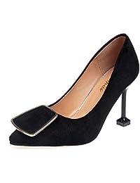 DIMAOL Zapatos de Mujer PU Confort Primavera Verano Tacones Stiletto Talón  Para Casual Marrón Rosado Amarillo 6882b36c229e