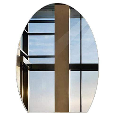 WENYAO Espejo Cuarto baño Espejo Oval Espejo Montaje