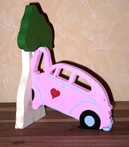 Buchstütze VW Kaäfer gegen Baum ros