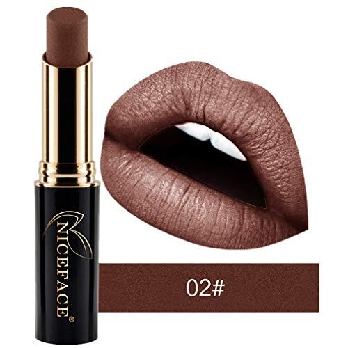 Tefamore Nouveau Lip Lingerie Matte Liquide Rouge à Lèvres Imperméable Maquillage à Lèvres Brillant 24 Teintes (2#)