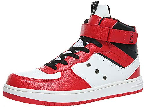 4f7e57129d63 Baskets Mode Mixte Adulte Boy Sneaker Baskets Bottines Leather Baskets  Montantes