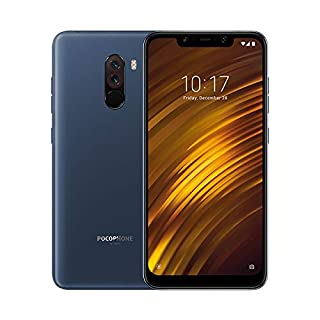 "Xiaomi Pocophone F1 - Smartphone Dual SIM de 6.18"" (4G, Qualcomm Snapdragon 845 2.8 GHz, RAM de 6 GB, memoria de 64 GB, cámara dual, Android) color azul [Versión Española] (B07H3J21Z4) 