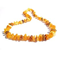 Premium 100% Genuine Raw Baltic Amber Necklace 32cm . Free Delivery. Money Back Guarantee. NFpREUPB