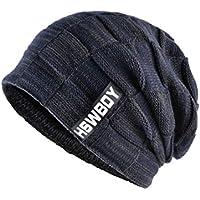 LIAN Sombrero de Punto de Invierno de Punto para Hombre Turbante Gorras  Skullies Balaclava Sombreros para cf2f6494819