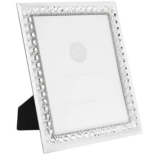 Leonardo Marco Fotos Espejo Plateado Diamantes imitación