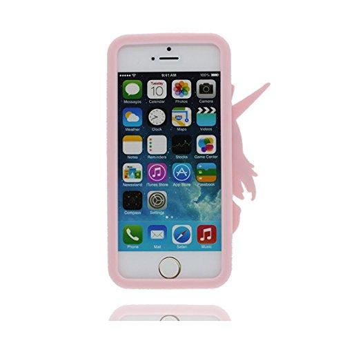 iPhone 5s Custodia, iPhone 5 SE 5C Copertura, | TPU durevole Case Per le ragazze delle signore Ragazzi | Gomma morbida del gel/ Cover / evidente/ unicorno unicorn Pink Pink