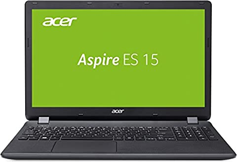 Acer Aspire ES 15 (ES1-571-P4SZ) 39,6 cm (15,6 Zoll Full HD) Notebook (Intel Pentium 3558U, 4GB RAM, 1000GB HDD, Intel HD Graphics, DVD, Win 10 Home) schwarz