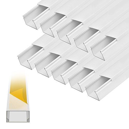 ARLI Kabelkanal selbstklebend 30x20mm PVC 15m Installationskanal Wand und Decken Montage allzweck für aller Art von Kabel Haus Büro TV Lautsprecher Telefon Sat Internet Lan (Tv-kabel-abdeckung Wand)