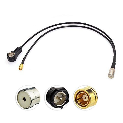 Preisvergleich Produktbild Eightwood DAB DAB+ Antenne SMB Autoradio Antennensplitter Kupplung ISO Stecker auf ISO Buchse Pigtail Kabel RG174 12inch 30cm für Digitalradio Empfang Blaupunkt Beat TechniSat Pioneer Sony Kenwood Alpine JVC
