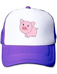 Cute Cartoon Pig Mesh Trucker Caps/Hats Adjustable For Unisex Pink