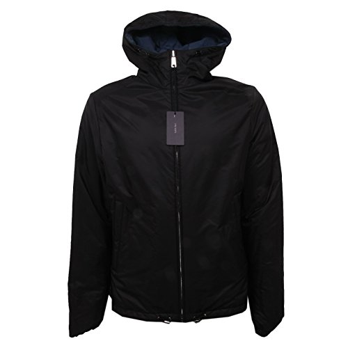 C6398 giubbotto double face uomo PRADA blouson reversibile jacket men Nero/Blu