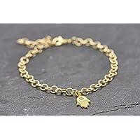 Armband Hamsa Hand Fatima vergoldet Glück Glücksbringer Schutzengel